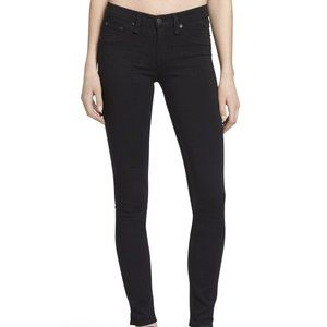 RAG & BONE Black Mid Rise Soft Twill Leggings